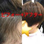 ショートで、デリケートな髪質でも弱酸性縮毛矯正